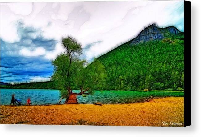 Nature Canvas Print featuring the photograph Rattlesnake Lake by Tim Coleman
