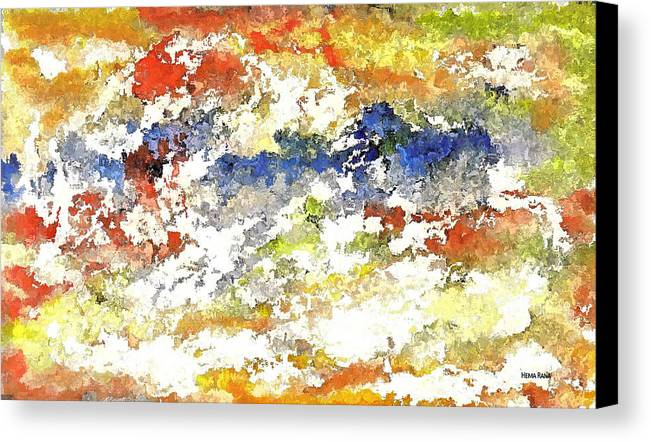 Abstract Art Canvas Print featuring the digital art Stormy Weather by Hema Rana