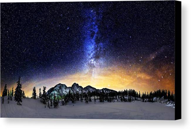 Stars Canvas Print featuring the photograph Under The Stars by Alexis Birkill