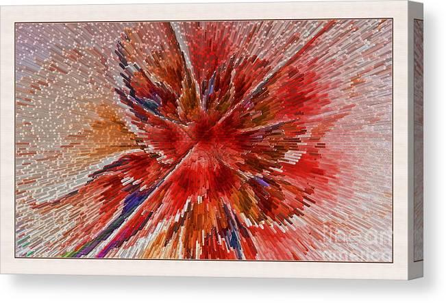 Fractal Canvas Print featuring the digital art Burning Passion Of Love by Deborah Benoit