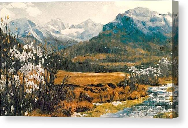 Spring Canvas Print featuring the painting Spring In France by Sorin Apostolescu