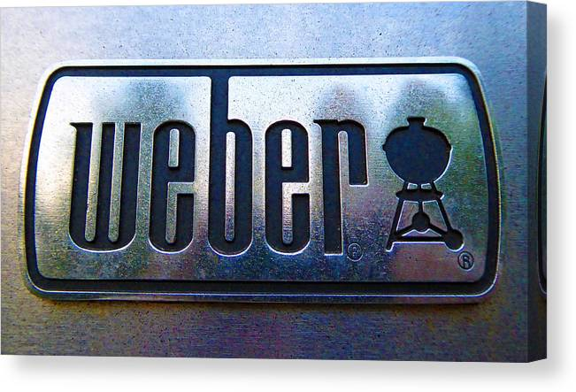 Barbeque Canvas Print featuring the photograph Weber by Laurie Tsemak