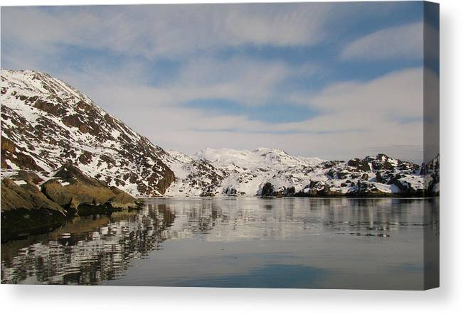 Arctic Canvas Print featuring the photograph Untitled by Sidsel Genee