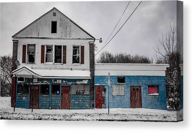 Building Canvas Print featuring the photograph Faded Glory by George Patterson