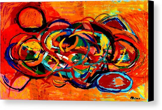 Abstract Canvas Print featuring the painting Untitled 2 by Paul Freidin