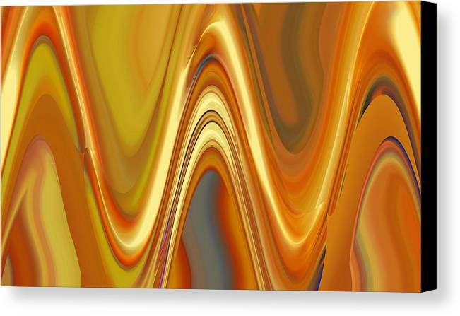 Abstract Canvas Print featuring the digital art Atychiphobia by John Holfinger