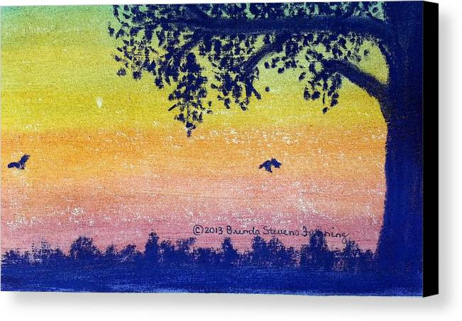 Twilight Canvas Print featuring the painting Autumn Twilight by Brenda Stevens Fanning