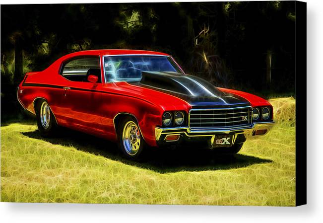 Buick Muscle Car Canvas Print featuring the photograph Buick Gsx by motography aka Phil Clark