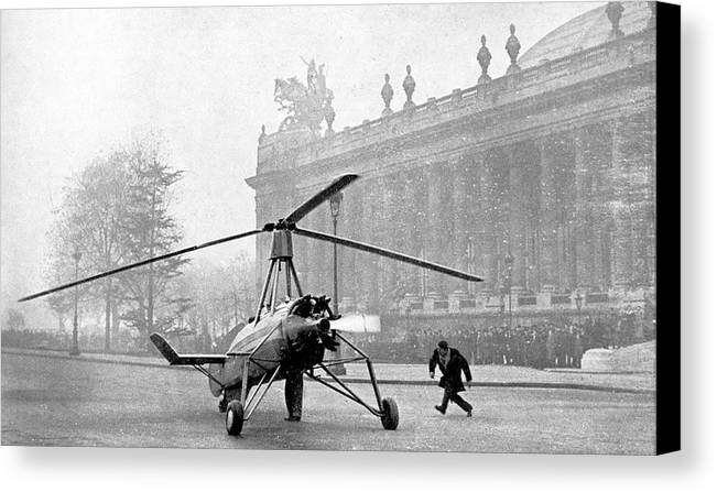 20th Century Canvas Print featuring the photograph Early 20th Century Autogyro by Cci Archives