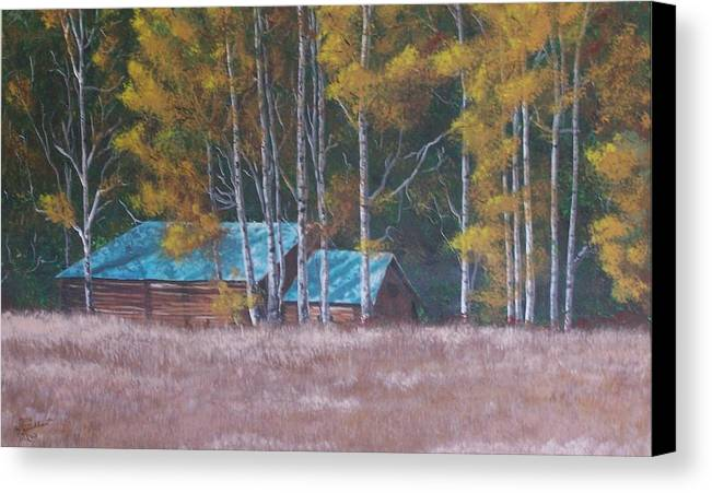 Landscape Canvas Print featuring the painting Fall On The Ranch by Gene Ritchhart