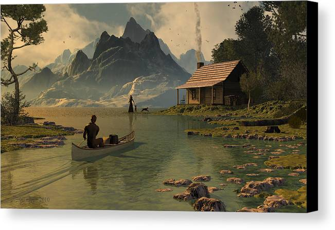 Dieter Carlton Canvas Print featuring the digital art For All That I Can See by Dieter Carlton