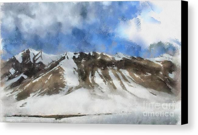 Gruzia Canvas Print featuring the pyrography Georgia Gruzia by Yury Bashkin