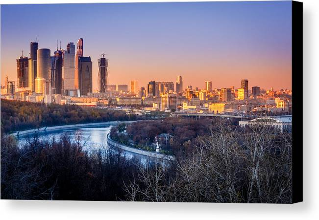 Moscow Canvas Print featuring the photograph Moscow City by Alexey Stiop