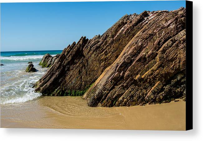 Beach Canvas Print featuring the photograph Quarry Beach 08 by Heather Provan