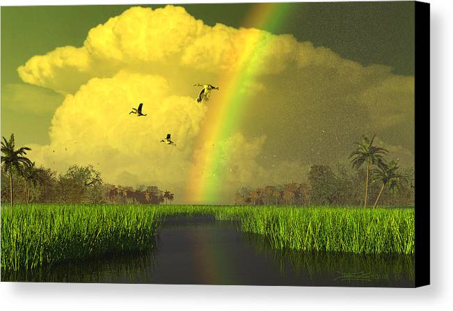Florida Canvas Print featuring the digital art The Gift Of Light by Dieter Carlton