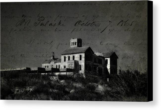 Spain Canvas Print featuring the photograph The Most Haunted House In Spain. Casa Encantada. Welcome To The Hell by Jenny Rainbow