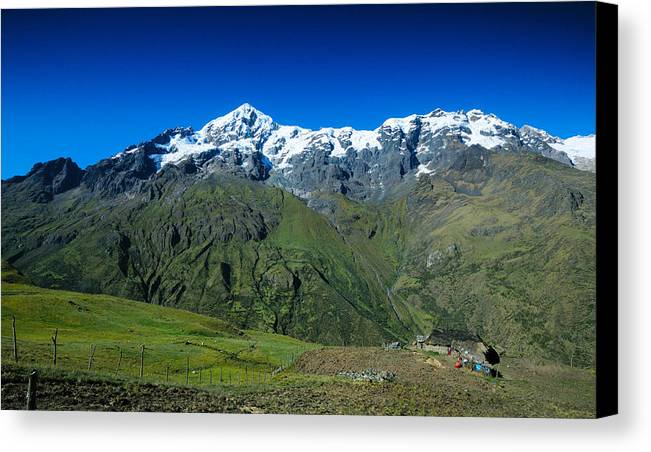 Andes Canvas Print featuring the photograph Top Of The World by Jim Southwell
