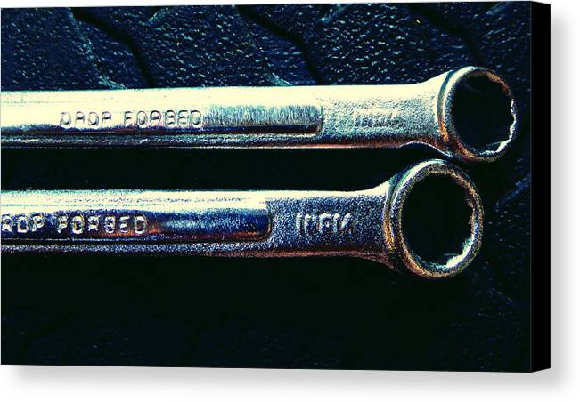 Hammer Canvas Print featuring the photograph Wrench Handles F by Laurie Tsemak