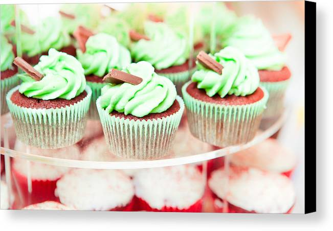 Bake Canvas Print featuring the photograph Cup Cakes by Tom Gowanlock