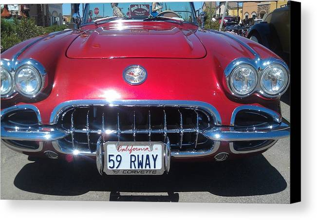 Corvette.chevy Canvas Print featuring the photograph 59 Vette by Jerry Killian