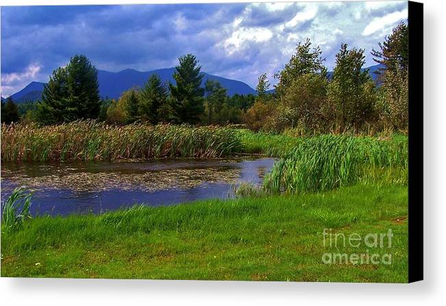 Mountains Canvas Print featuring the photograph A Storm Rolls In From The West 1 by Peggy Miller