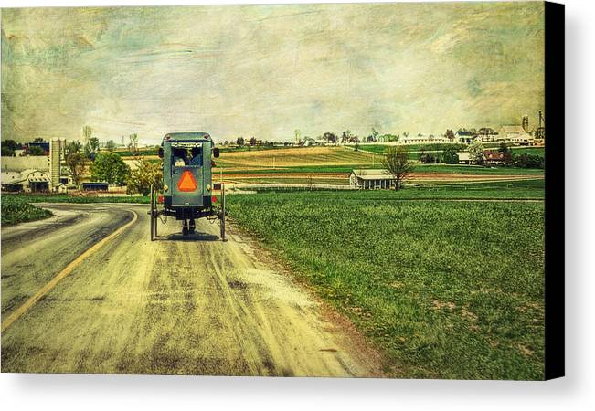 Amish Canvas Print featuring the photograph Route 716 by Kathy Jennings