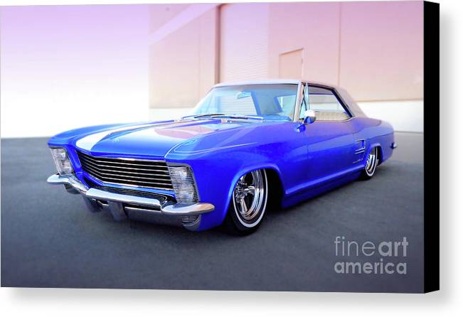 Automotive Canvas Print featuring the photograph 1963 Buick Riviera by Thomas Burtney