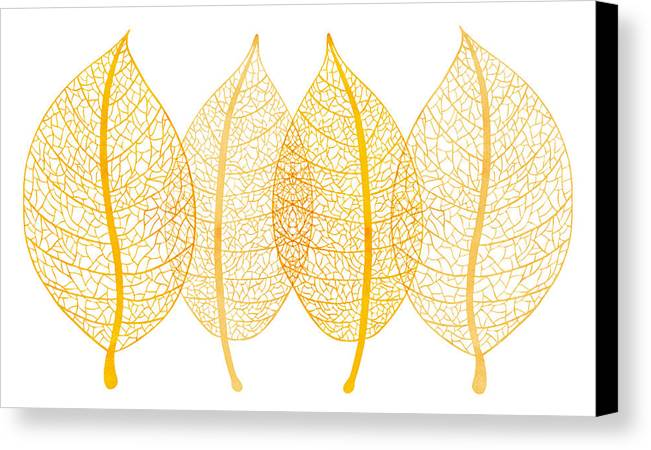 Frank Tschakert Canvas Print featuring the painting Leaves by Frank Tschakert