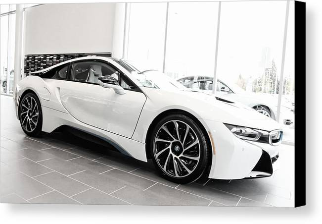 Bmw Canvas Print featuring the photograph 2014 Bmw E Drive I8 by Aaron Berg