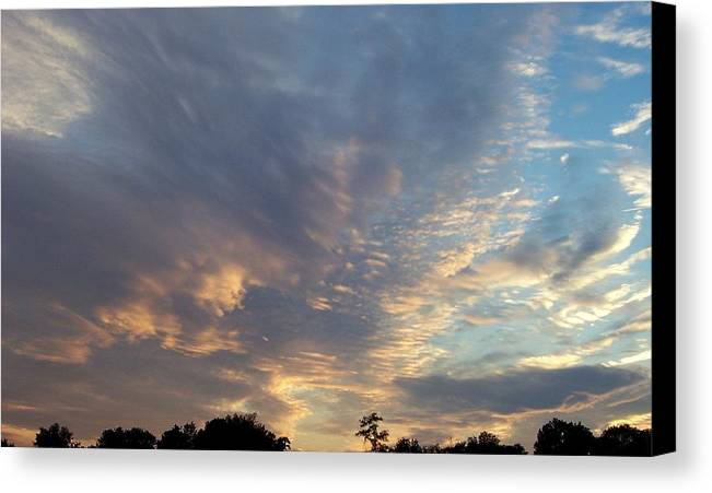 Skyscape Canvas Print featuring the print Untitled by Beverly Baxter