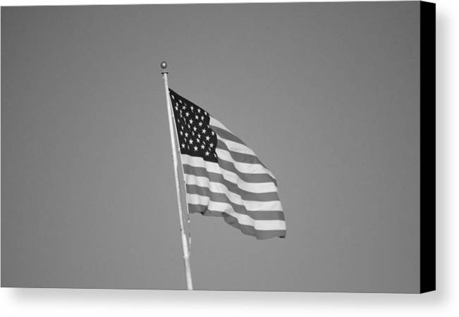 America Canvas Print featuring the photograph American Spirit B/w by Talia Misner