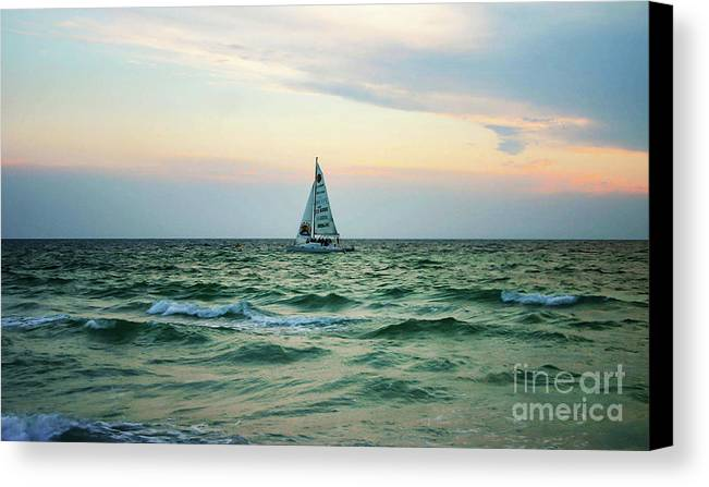 Anna Marie Island Canvas Print featuring the photograph Anna Marie Island by Raleigh Art Gallery