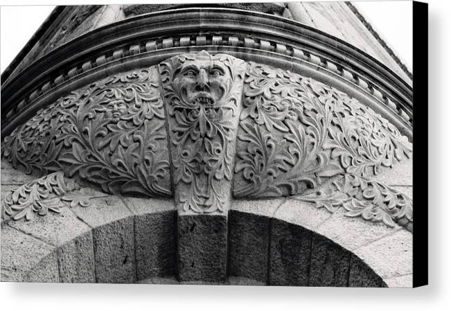 Canada Canvas Print featuring the photograph Archway In Old Montreal by Henry Krauzyk