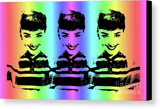 Audrey Hepburn Canvas Print featuring the digital art Audrey Hepburn Art by Kjc