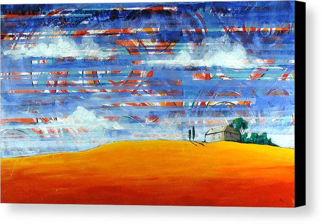 Landscape Canvas Print featuring the painting Aurora by Rollin Kocsis