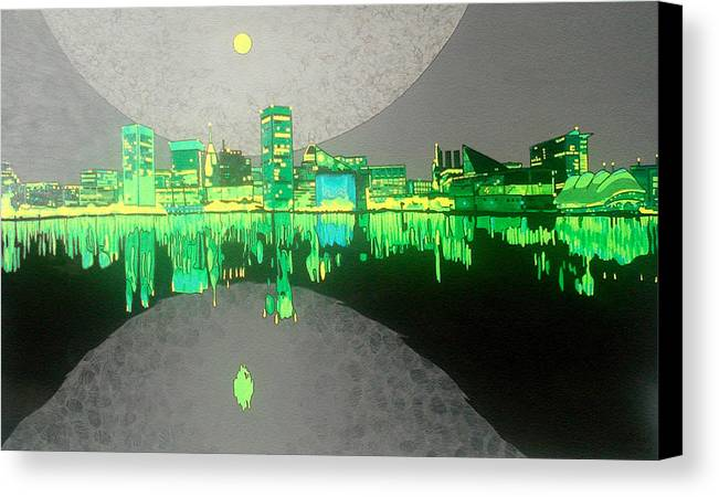 Landscape Canvas Print featuring the painting Baltimore by Jason Charles Allen