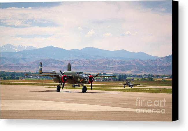 Chase Plane Canvas Print featuring the photograph Chase Plane by Jon Burch Photography