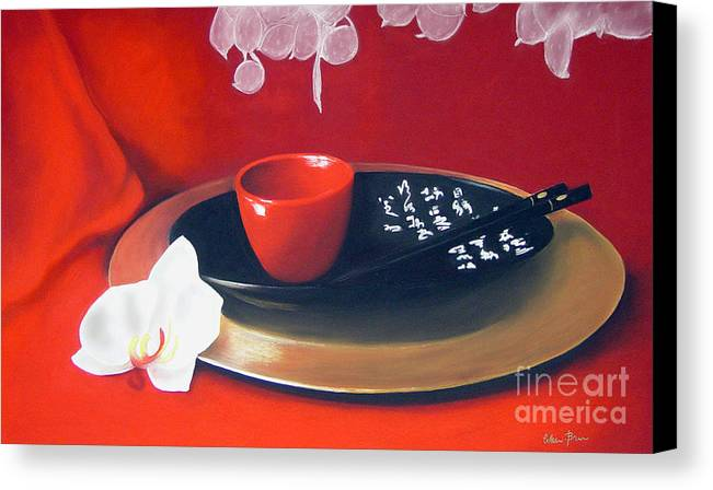 Still Life Canvas Print featuring the painting Chopsticks by Colleen Brown