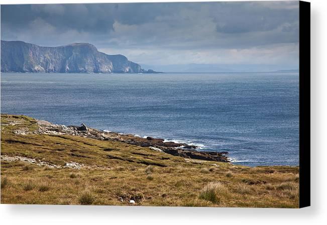 Mayo Coast Canvas Print featuring the photograph Coast Of Achill Island by Gabriela Insuratelu