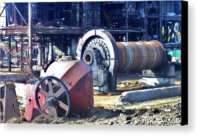 Photography Canvas Print featuring the photograph Domfer Deconstruction 2 by Reb Frost