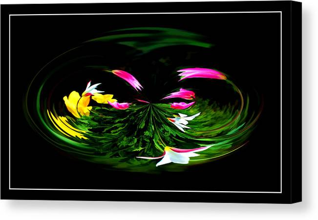 Floral Art Canvas Print featuring the photograph Fantasy Garden by Robert McCord