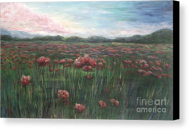 France Canvas Print featuring the painting French Poppies by Nadine Rippelmeyer
