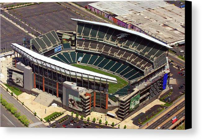 Lincoln Financial Field Canvas Print featuring the photograph Lincoln Financial Field Philadelphia Eagles by Duncan Pearson