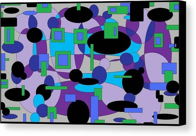 Digital Abstract Canvas Print featuring the digital art Moody Purple by Jordana Sands