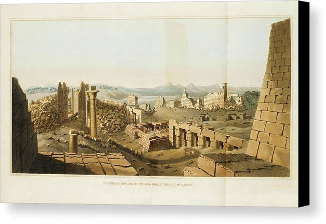 Orient - Egypt - Belzoni Canvas Print featuring the painting Orient by Egypt