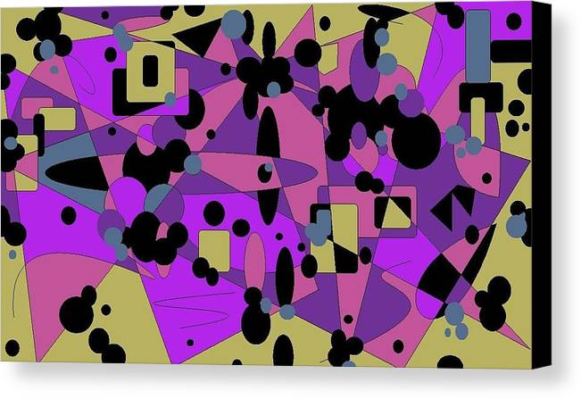 Digital Abstract Canvas Print featuring the digital art Pretty Picture by Jordana Sands