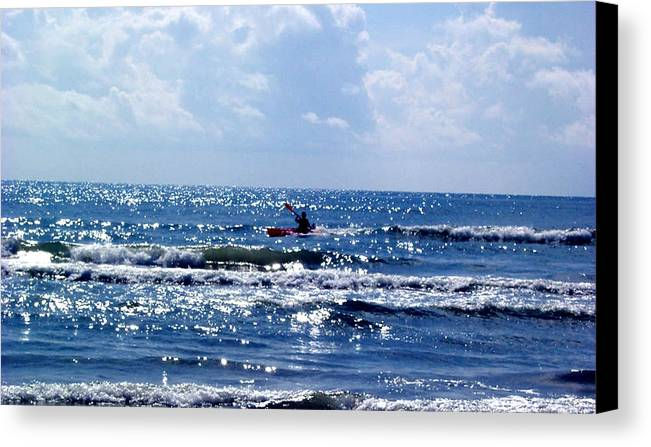 Ocean Canvas Print featuring the photograph Riding The Waves by Evelyn Patrick