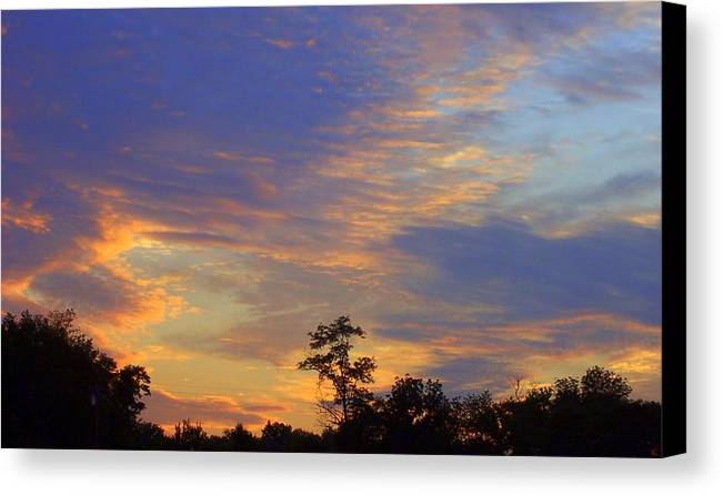 Landscape Canvas Print featuring the print Summer Days by Beverly Baxter