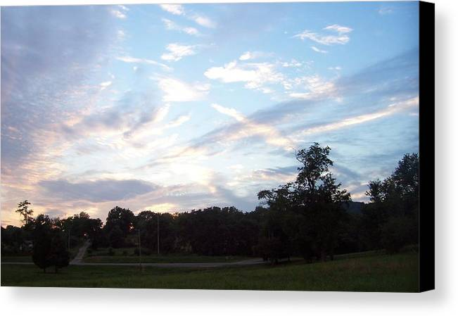 Landscape.skyscape Canvas Print featuring the print Tennessee Nites by Beverly Baxter