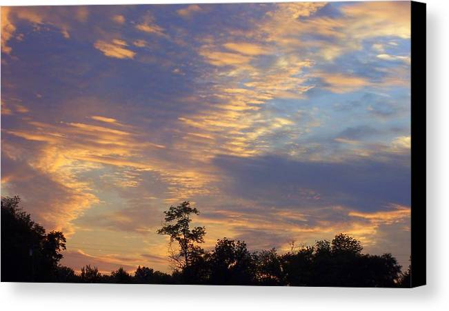 Sunset Canvas Print featuring the print Tennessee Sunset by Beverly Baxter
